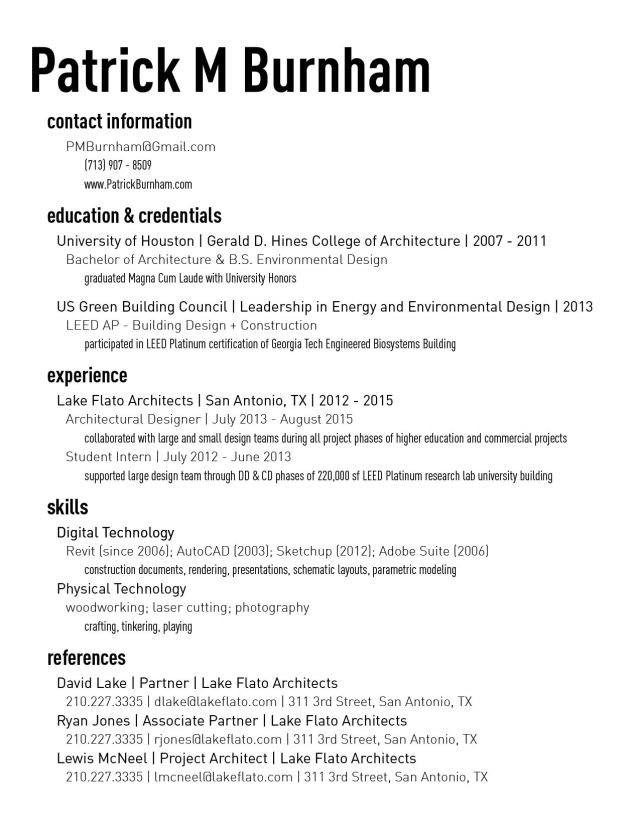 Burnham Resume